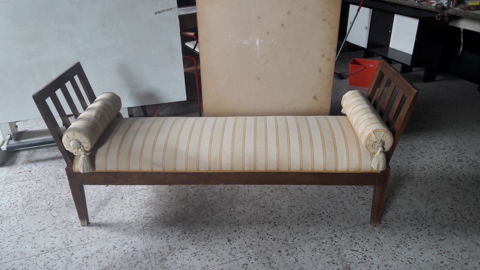 Small Antique Italian Wooden Sofa For Sale At Pamono