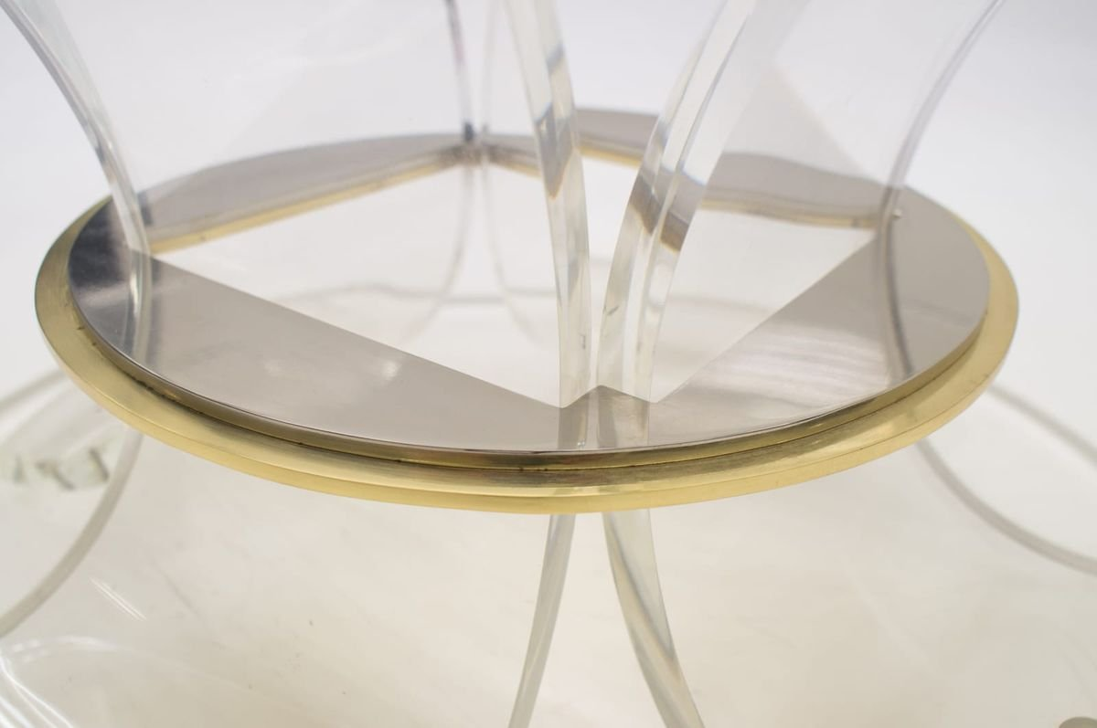 Italian Acrylic Coffee Table With Bicolor Ring 1970s Bei Pamono Kaufen