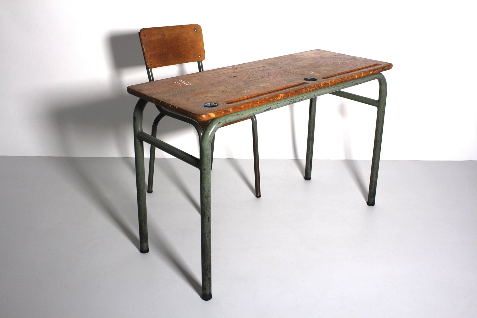 Industrial Look Chairs Vintage Industrial Style Desk And Chair 1940s Set Of 2
