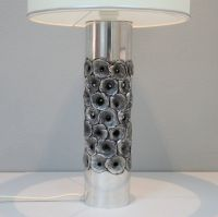 Aluminum Table Lamp, 1970s for sale at Pamono