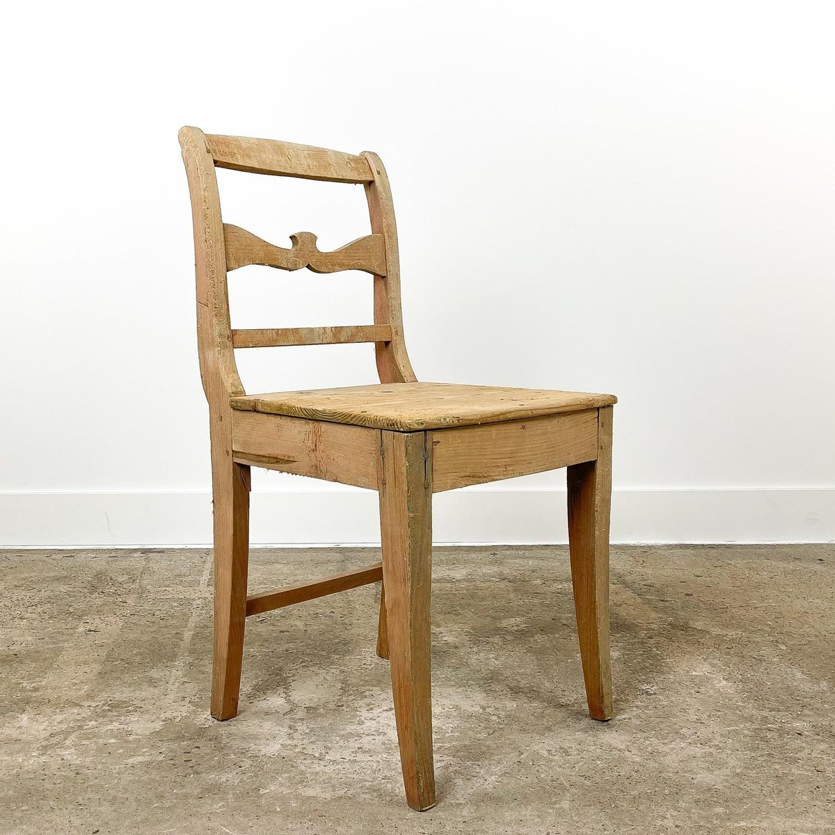 Antique Swedish Pine Farmhouse Chair For Sale At Pamono