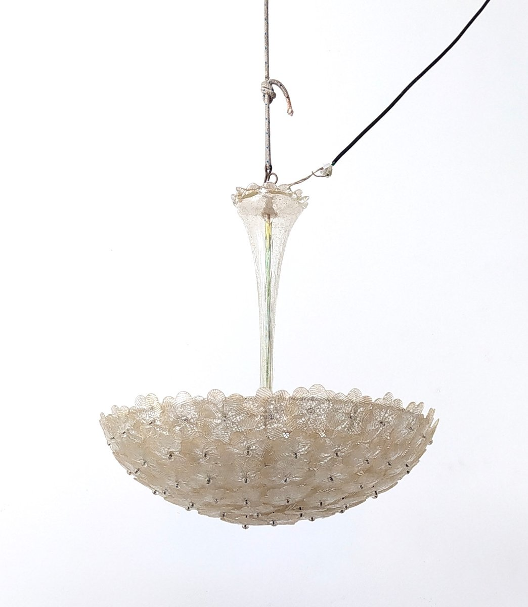 Mid Century Millefiori Murano Glass Chandelier From Barovier Toso Italy 1960s For Sale At Pamono