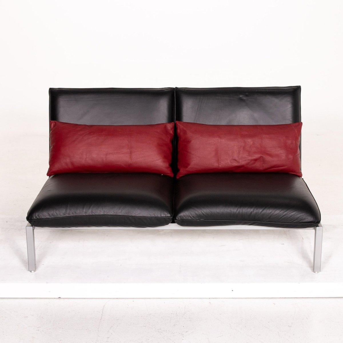 Roro Black Leather Sofa From Brühl Sippold For Sale At Pamono