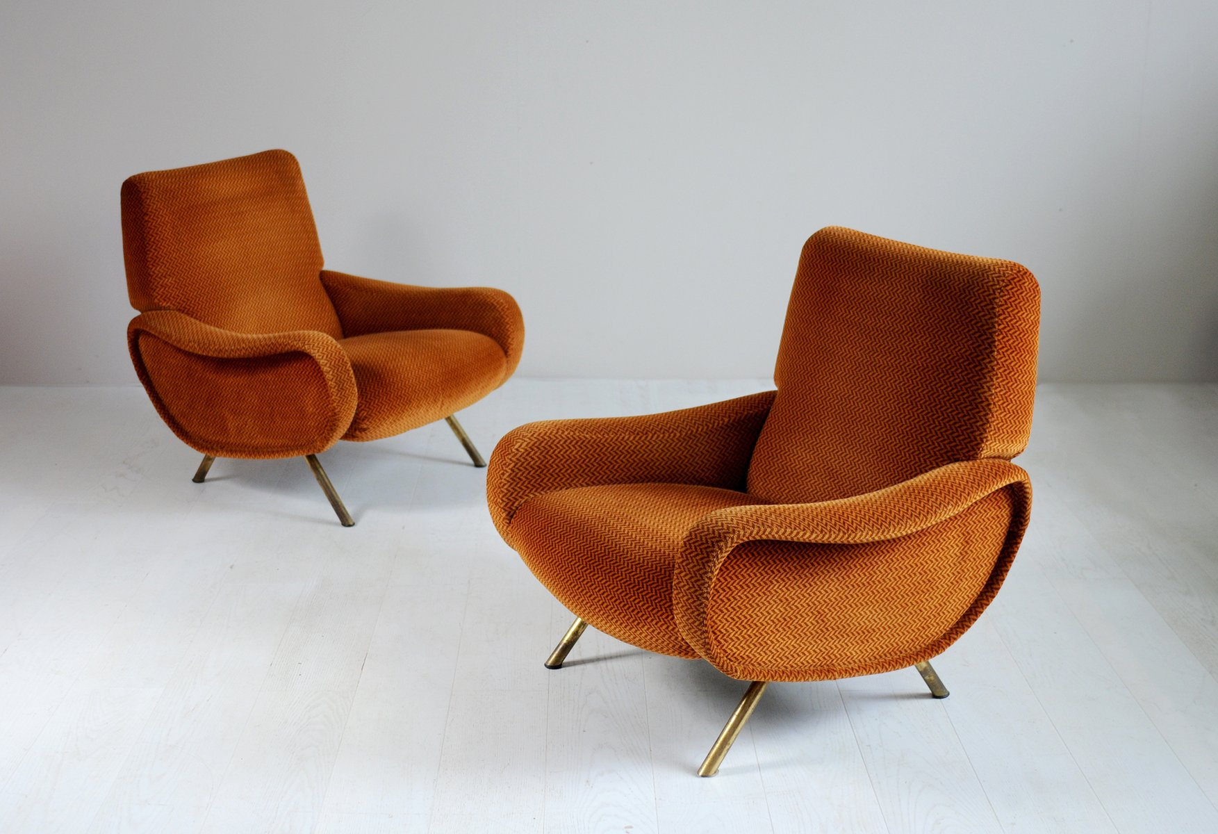 Italian Triennale Sofa Lady Armchairs By Marco Zanuso For Arflex 1950s Set Of 3 For Sale At Pamono
