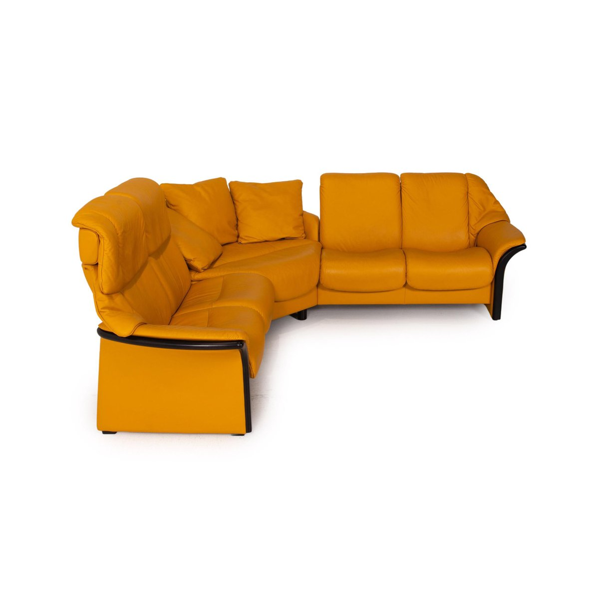 Eldorado Yellow Leather Corner Sofa From Stressless For Sale At Pamono