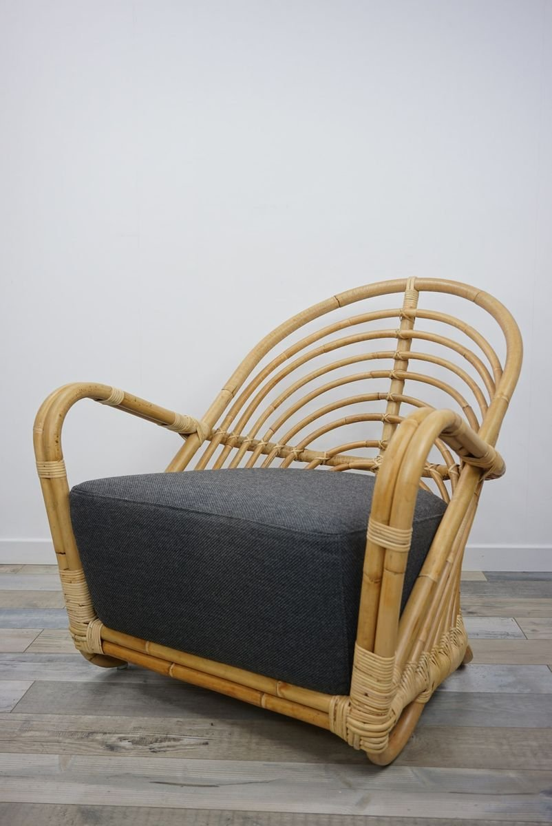 Vintage Rattan Chair By Arne Jacobsen For Sale At Pamono