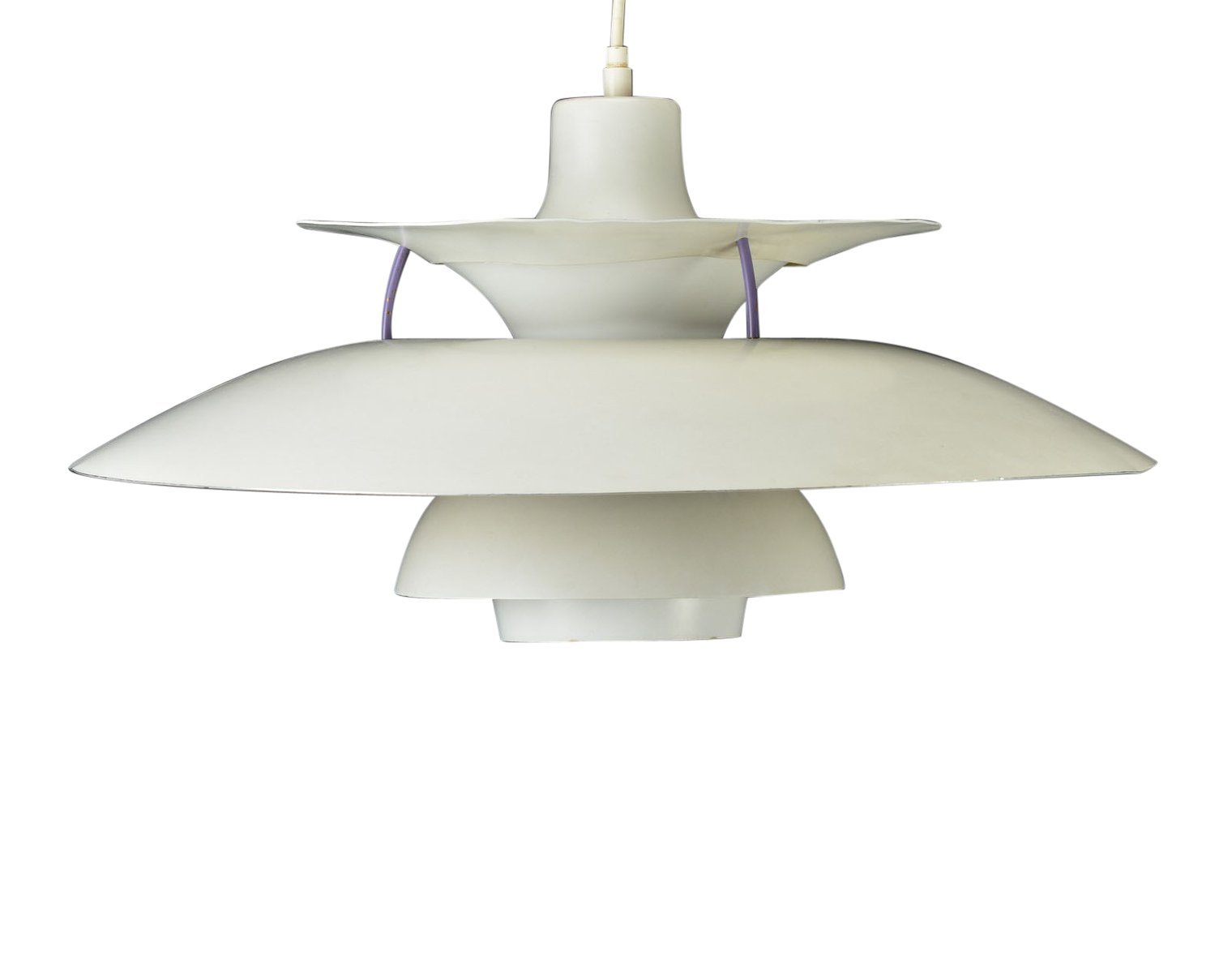 Poul Henningsen Lampe Vintage White Lacquered Ph 5 Pendant Lamp By Poul Henningsen