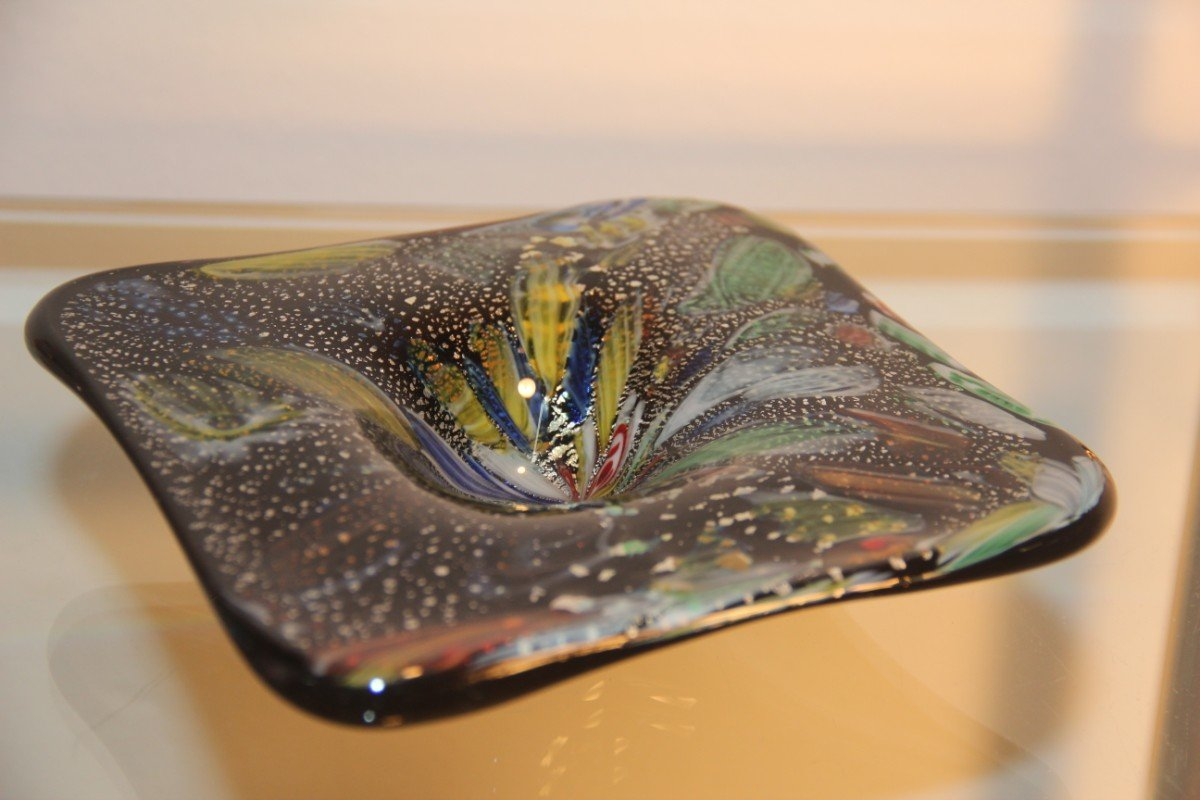 Murano Art Glass Vintage Murano Art Glass Bowl From Avem 1950 For Sale At