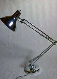 Large Luxo L-1 Chrome Spring-Arm Lamp by Jacob Jacobsen ...