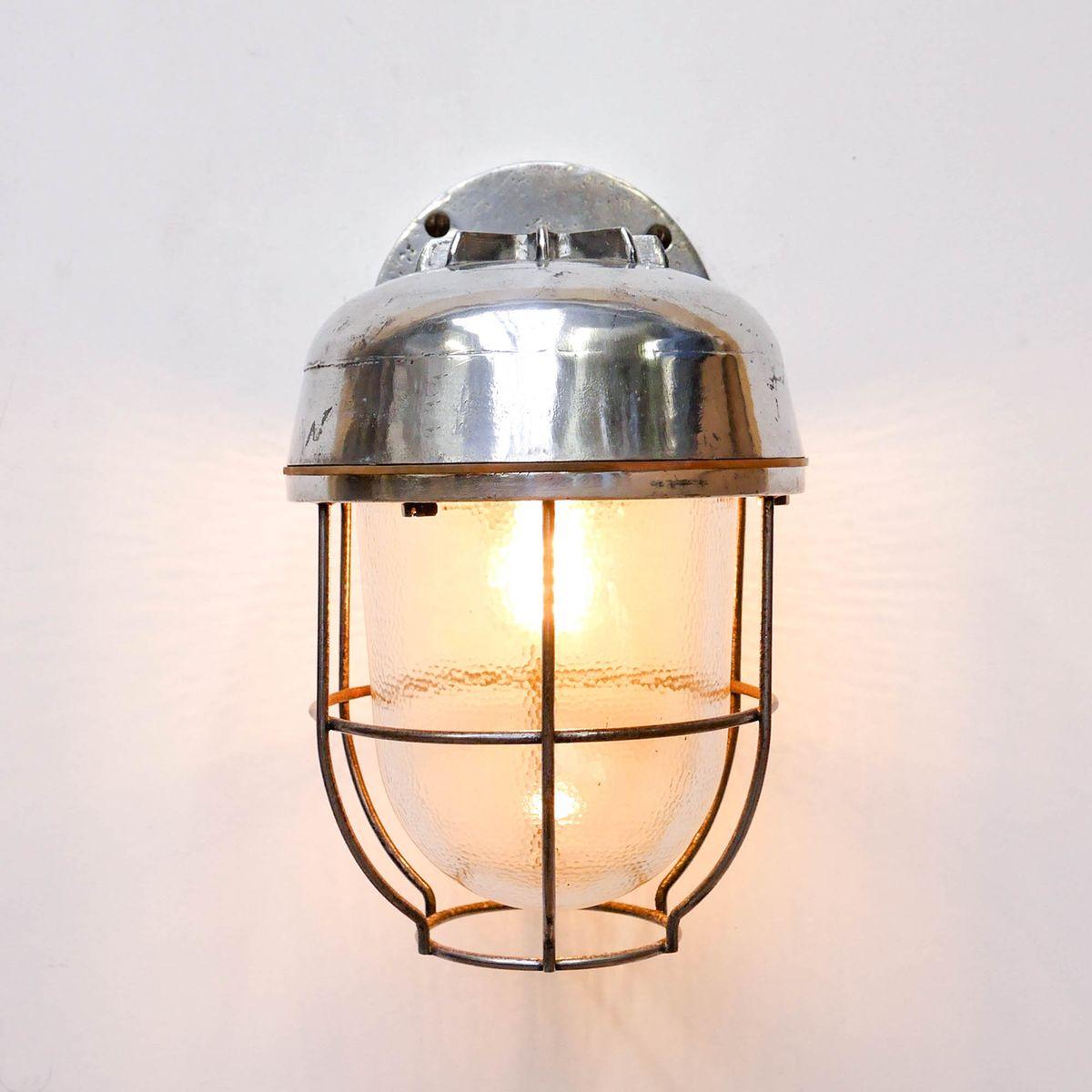 Vintage Lantern Wall Lamp for sale at Pamono