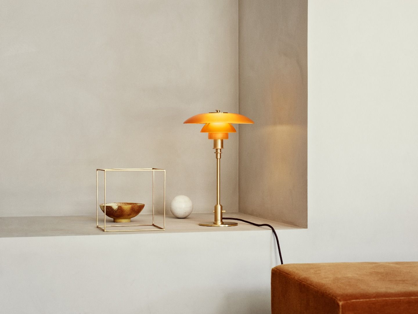 Louis Poulsen Ph 3 2 Limited Edition Ph 3 2 Amber Colored Glass Table Lamp By Poul Henningsen For Louis Poulsen
