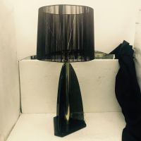 Vintage Smoked Lucite Table Lamp from Van Teal, 1980s for ...