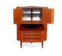 Mid-Century Teak Corner Cabinet for sale at Pamono