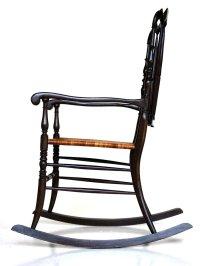 Vintage Chiavarina Rocking Chair, 1950s for sale at Pamono