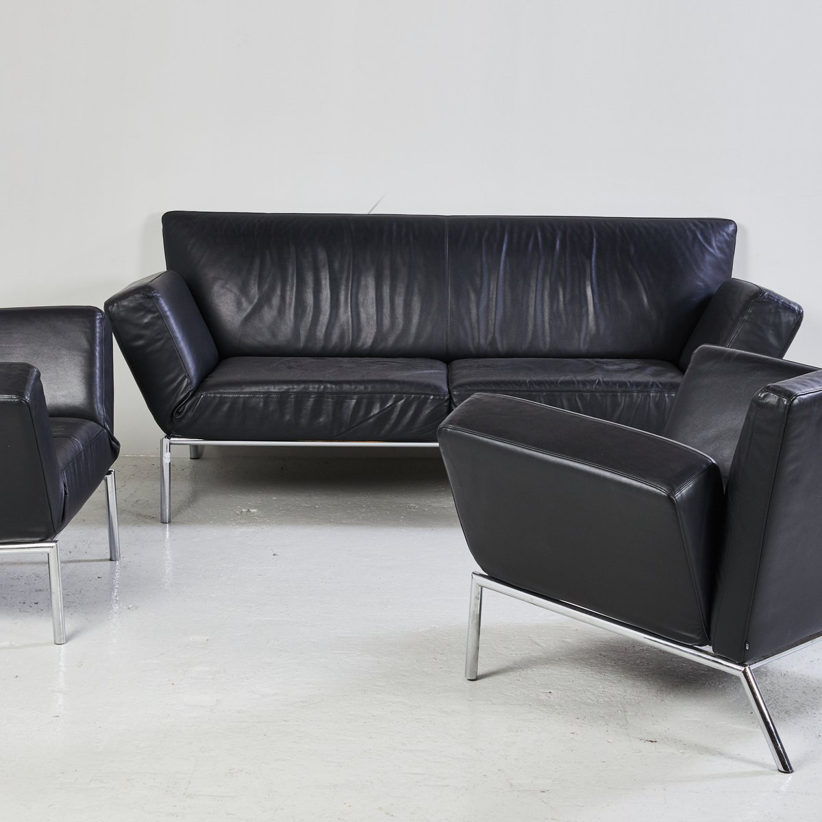 Sofa Set For Sale Uae Black Leather Sofa Set From Cor For Sale At Pamono