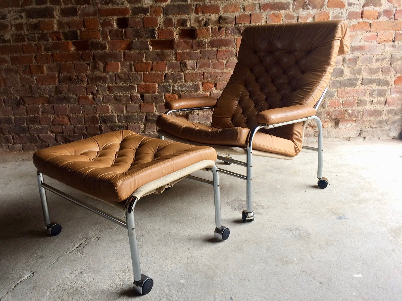 Vintage Ikea Lounge Chair Bore Lounge Chair And Footstool By Noboru Nakamura For Ikea