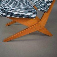 Mid-Century Model FB18 Scissor Lounge Chair by Jan Van ...