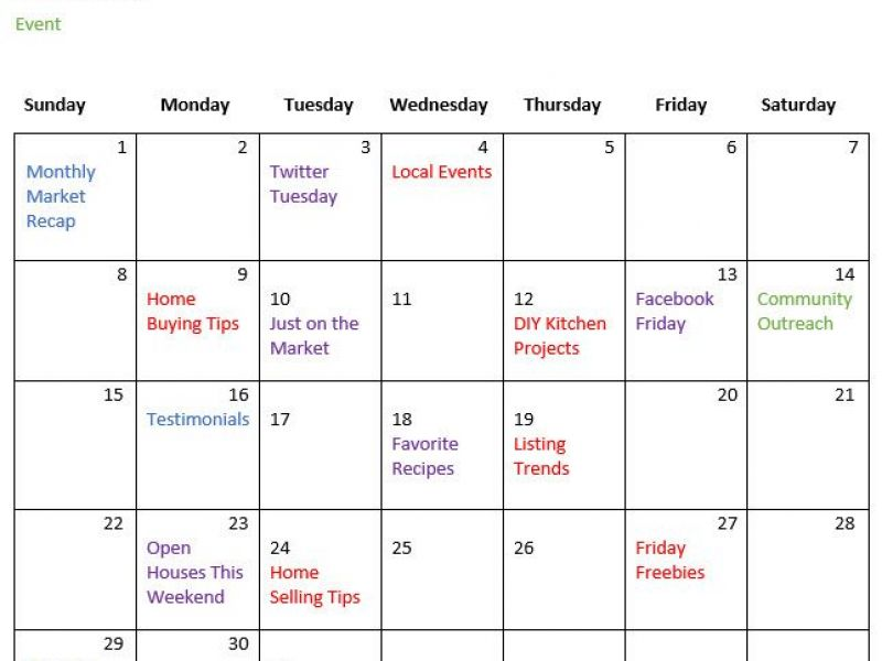 5 Reasons Why Creating a Real Estate Marketing Calendar Helps Your