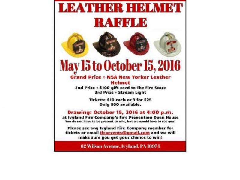 FUNDRAISER Leather Helmet Raffle at Ivyland Fire Company