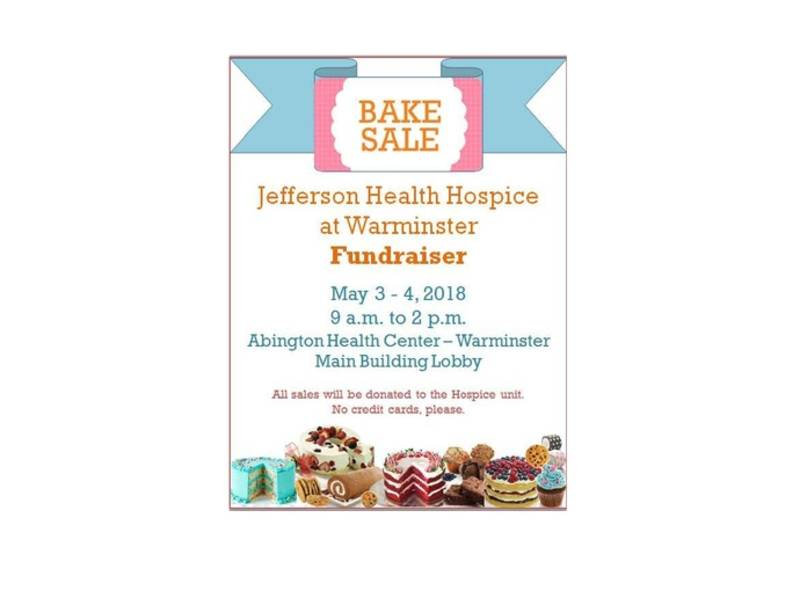 FUNDRAISER Bake Sale for Jefferson Health Hospice at Warminster
