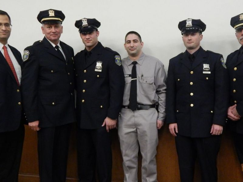 Garden City Police Officers, Recruit Take Their Oaths Garden City - Nys University Police