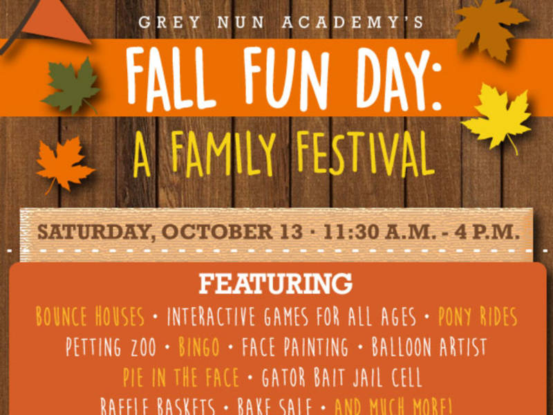 Grey Nun Academy to Host Annual Fall Fun Day A Family Festival