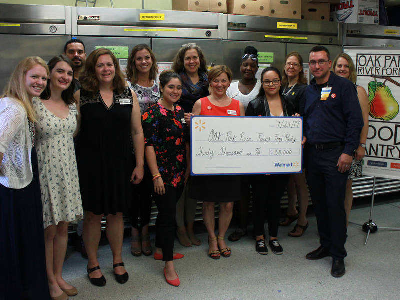 Oak Park River Forest Food Pantry Celebrates $30,000 Grant from