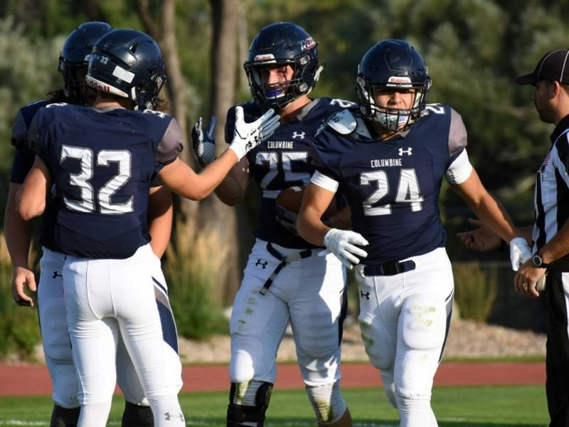 No 2 Columbine Football Opens With Win Over Denver East Littleton - Columbine High School Football