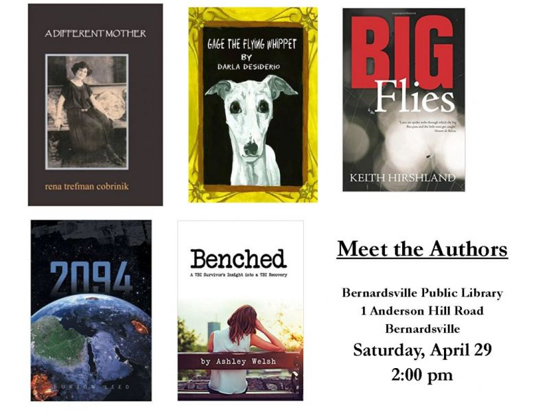 Self-Published Authors to Read at Bernardsville Library - self published author