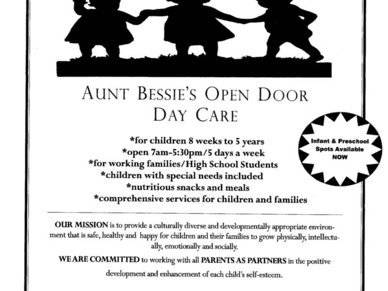 Aunt Bessie\u0027s Open Door Has Daycare Openings Peekskill, NY Patch