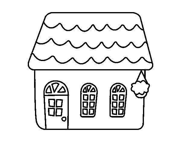 Disegno Di Casa Di Una Favola Da Colorare