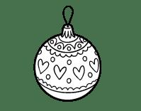 Disegno di Palline di Natale timbrato da Colorare ...