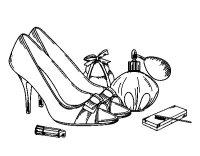 Disegno di Scarpe e trucco da Colorare - Acolore.com