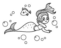 Disegno di Sirena magica da Colorare - Acolore.com