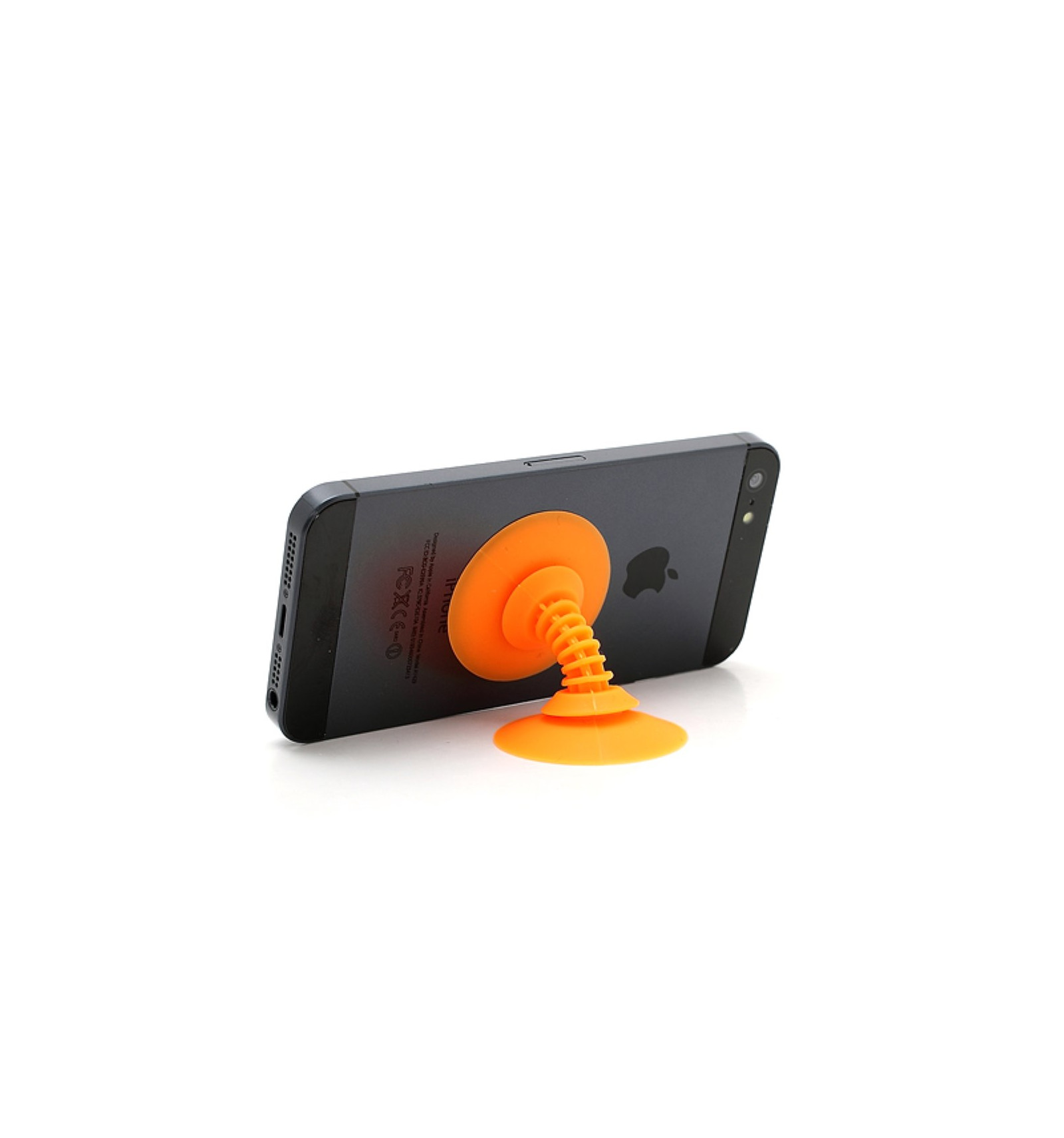 Support Bureau Support De Bureau Pour Smartphone Funny Ventouse Orange