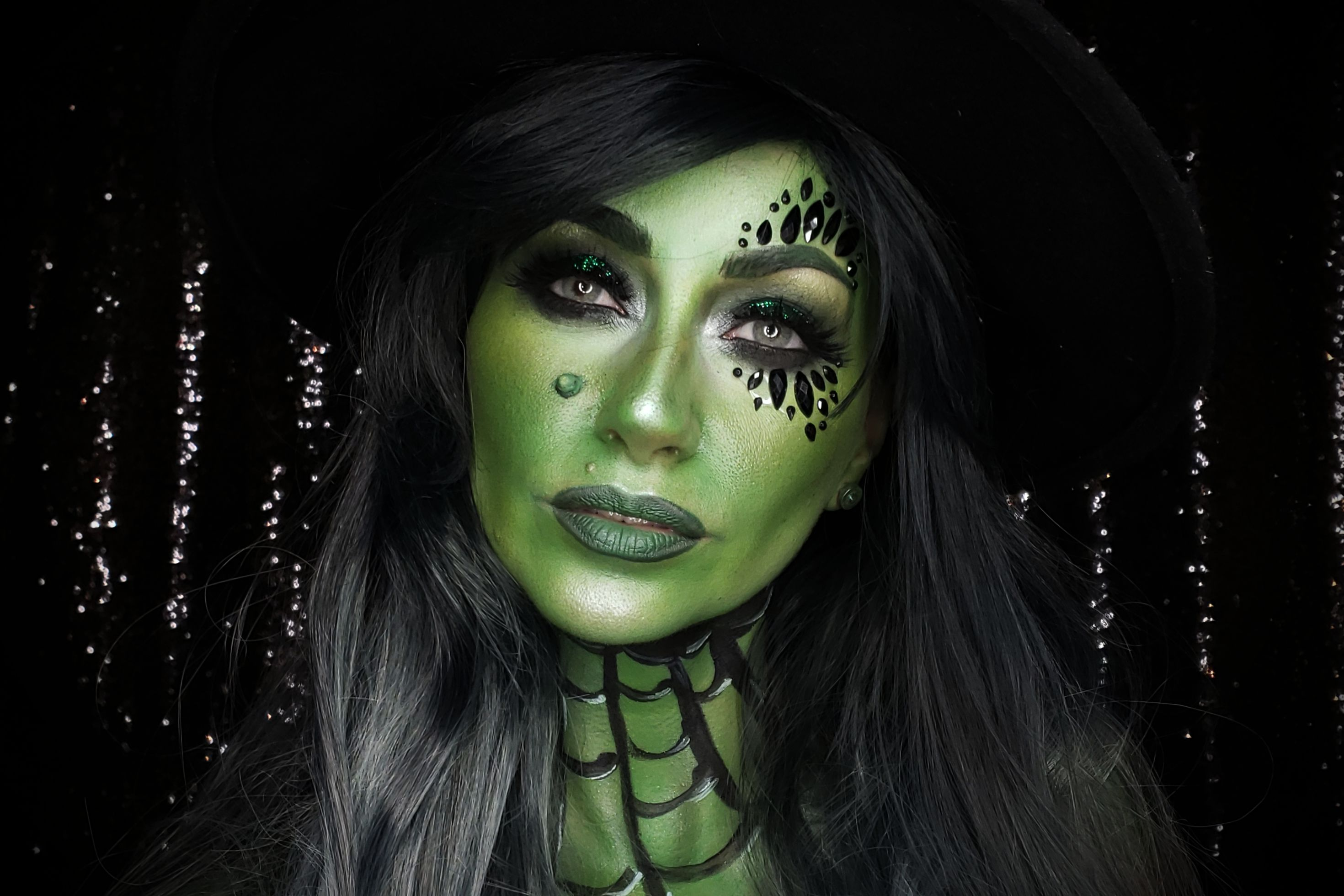 Butterfly Girl Hd Wallpaper Green Witch Makeup Tutorial Mehron