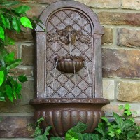 "Solar Outdoor Water Fountain, 27"" H Venetian 