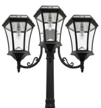 Solar Lamp Post Light | Victorian Triple Coach Lanterns ...