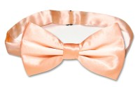 Solid Peach Color Mens BowTie