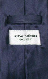 Navy Blue Crepe de Chine Neck Tie | Antonio Ricci Silk ...