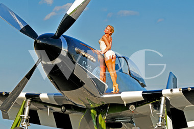 Ww2 Pin Up Girl Wallpaper Quot Liz Quot With The P 51 Mustangnew Artist Planejunkie