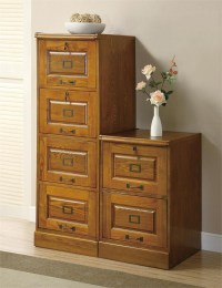 Wood File Cabinet | 2-Drawer Wood Cabinets | Home Office ...