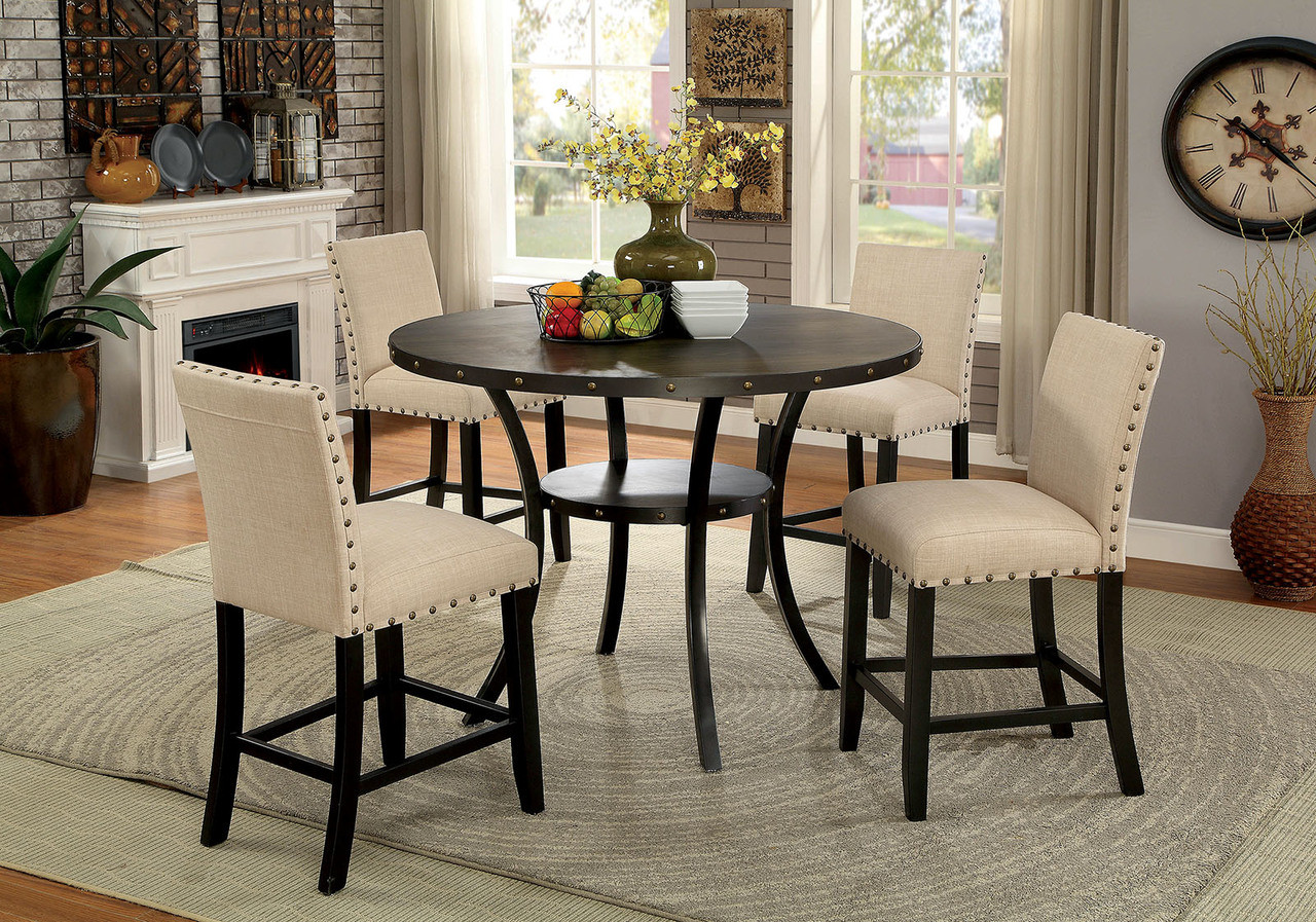 Big W Outdoor Table And Chairs 5pc Kaitlin Round Counter Height Table Set