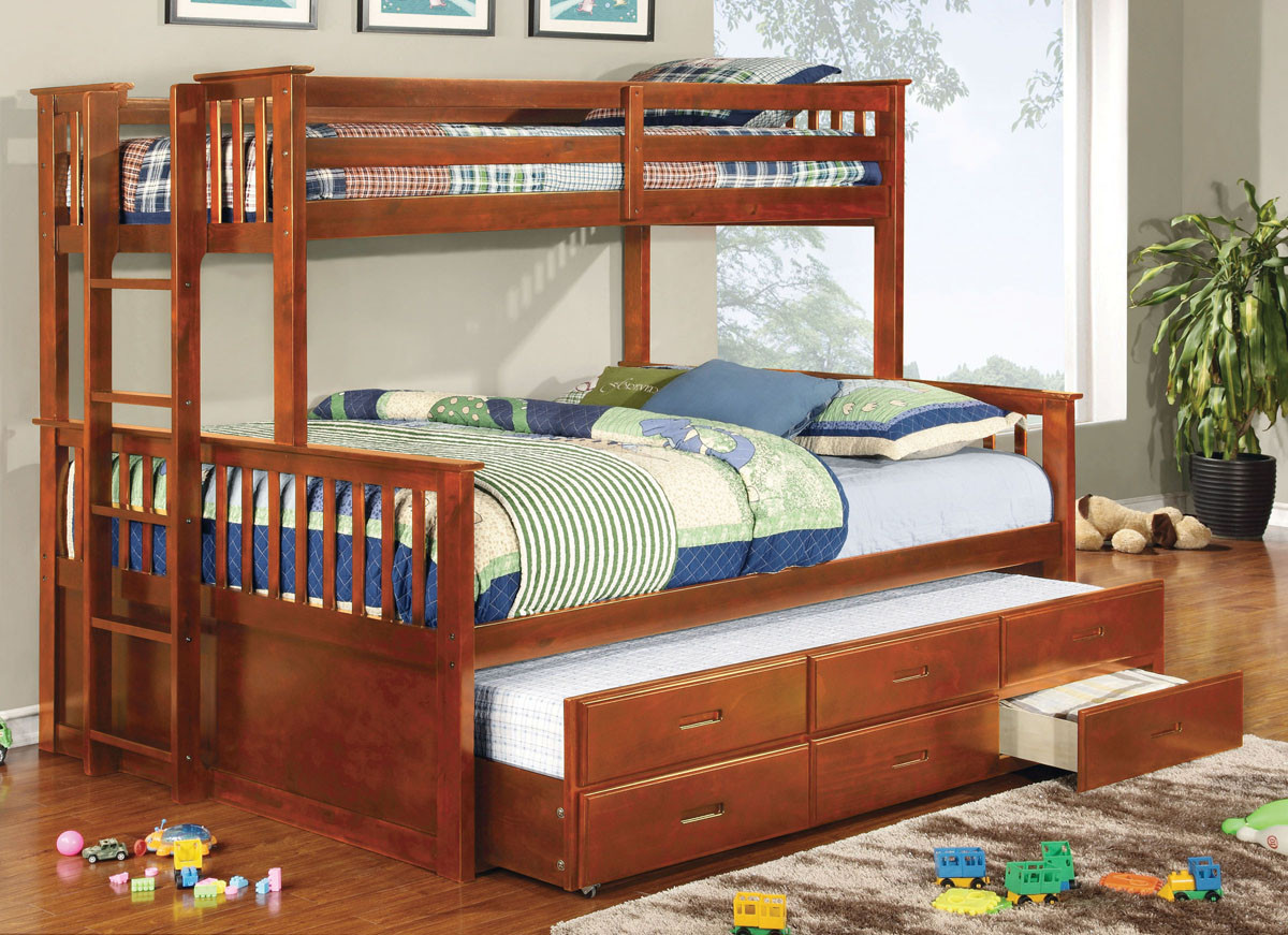 Queen Beds Online Newbridge Extra Long Twin Over Queen Bunk Bed With Trundle