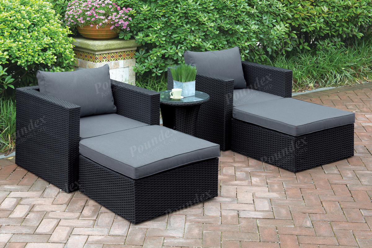Outdoor Lounge Sofa Lizkona Outdoor Patio 5 Pcs Lounge Sofa Set By Poundex