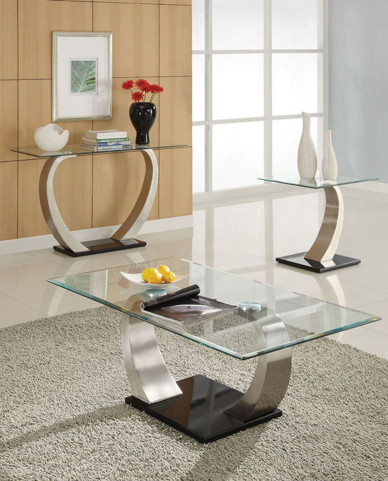 Alena Modern Chrome Glass Coffee Table