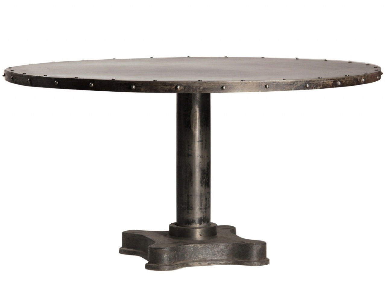 Industrial 60 round dining table