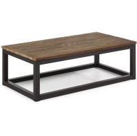 Civic Wood and Metal Coffee Table 43"