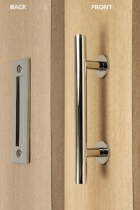 Pull and Flush Door Handle Set (Polished Finish)