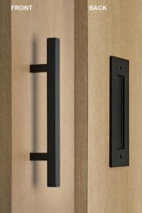 Pull and Flush Door Handle Set (Black Powder Finish)